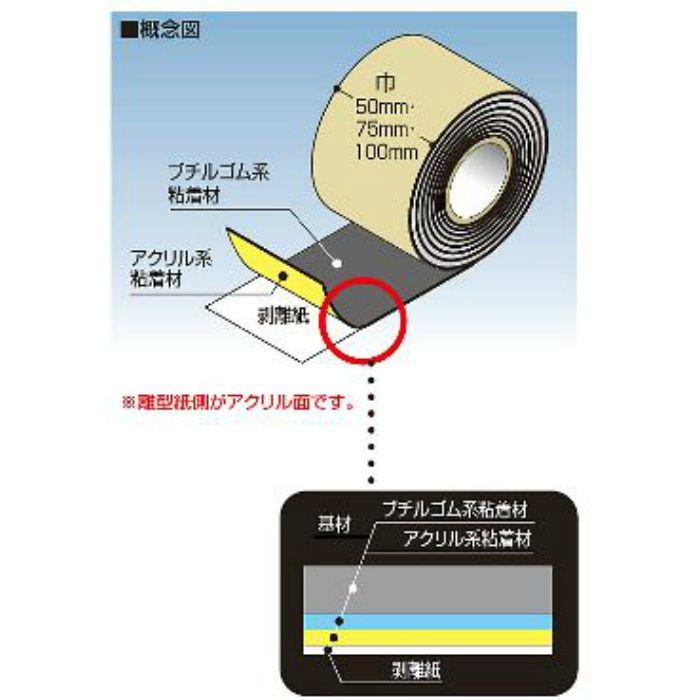 FHB100W ハイブリッド防水テープ 100W 8巻/ケース
