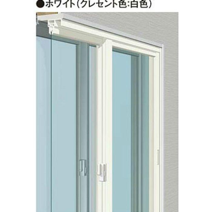 W1851-2700 H1851-2200 引違い単板(4枚建) ホワイト メルツエンサッシ内窓