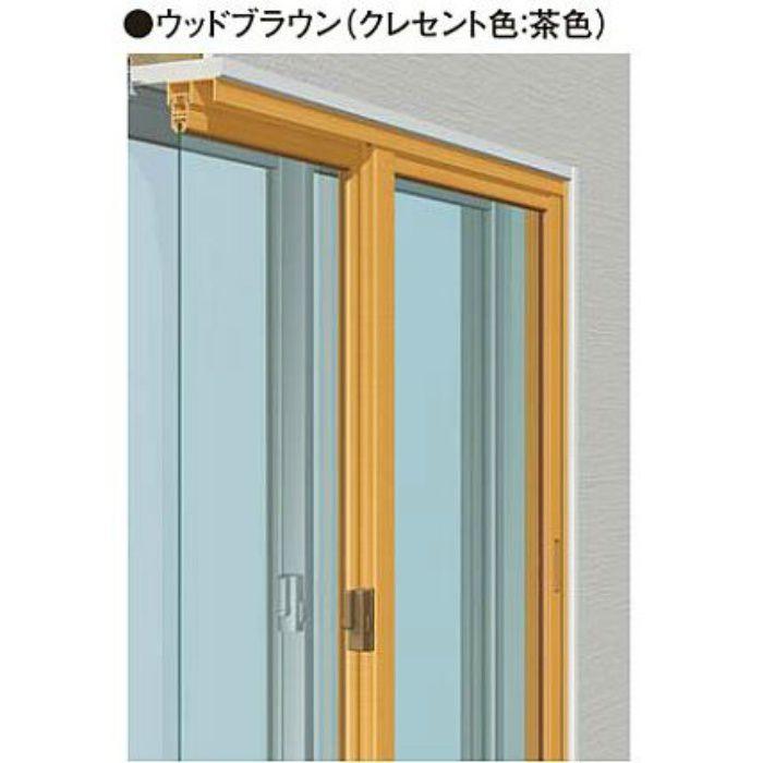 W1851-2700 H1851-2200 引違い単板(4枚建) ウッドブラウン メルツエンサッシ内窓