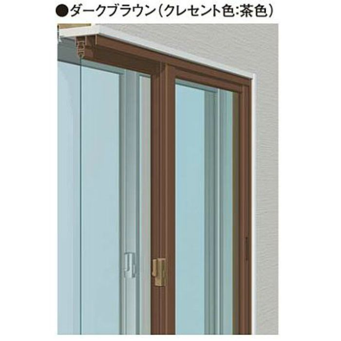 W2701-3600 H771-860 引違い単板(4枚建) ダークブラウン メルツエンサッシ内窓