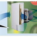 FAHCJ フレッシュアロー排気ファン コークスクリュー型 人感センサー付 ホワイト