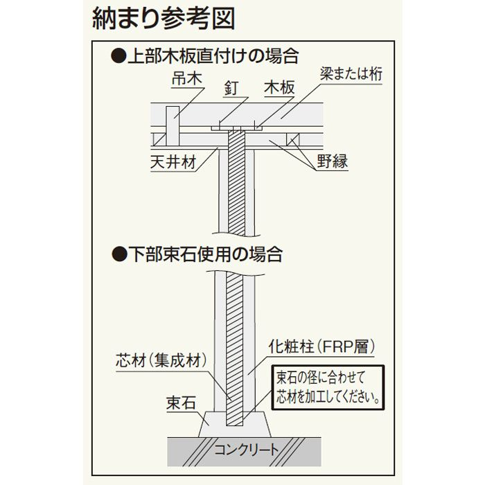 2J01 化粧柱2型J01 絞り丸太