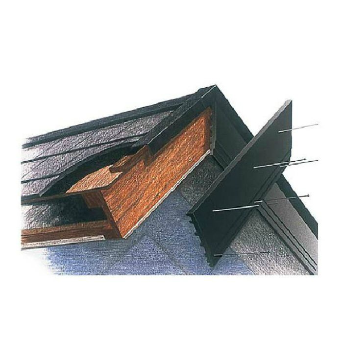 H18KD セミックス破風板H180出隅 ブラック 2個/ケース