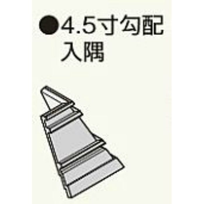M445CNP コンパルソリー木目破風板A型240 4.5寸勾配入隅 ピニーマサ 2個/ケース