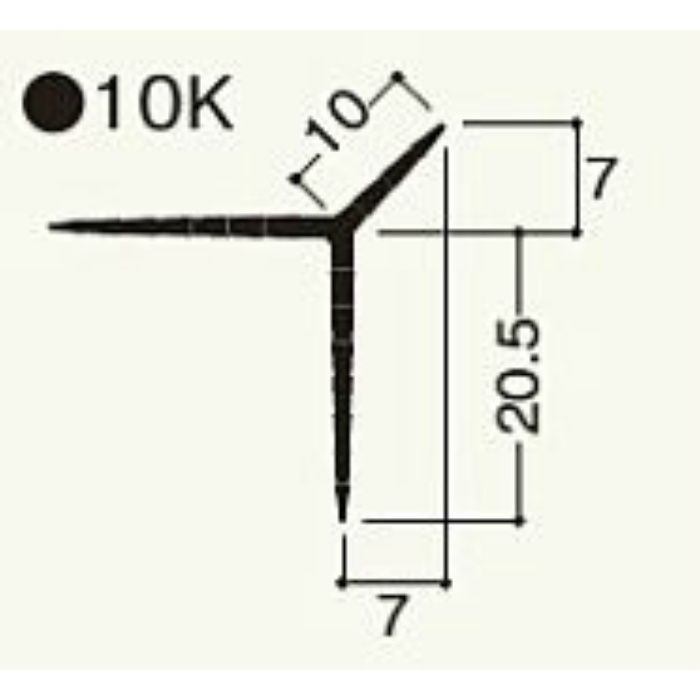 NT10KN2 ニューツーウェーコーナー 定木 10K ウスネズミ 100本/ケース