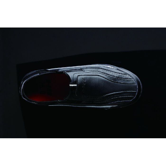 KZS-100 ブラック 24.5cm セーフティスニーカー (スリッポン)