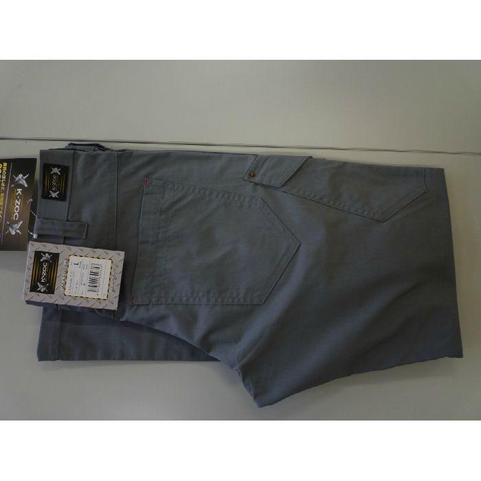 KZW-5563 グレー M ノータックカーゴパンツ