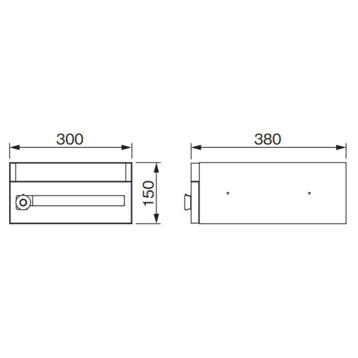 メイルボックス myナンバー錠 MX-11HL 4台/ケース