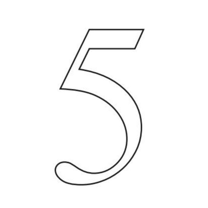 階数表示 PH01 No.5 サテンシルバー