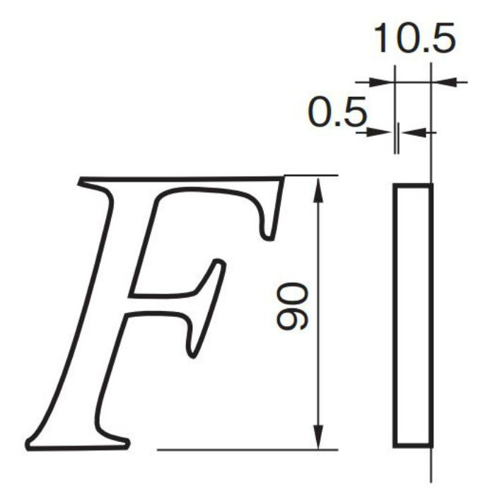 SUS階数表示 NS01-F