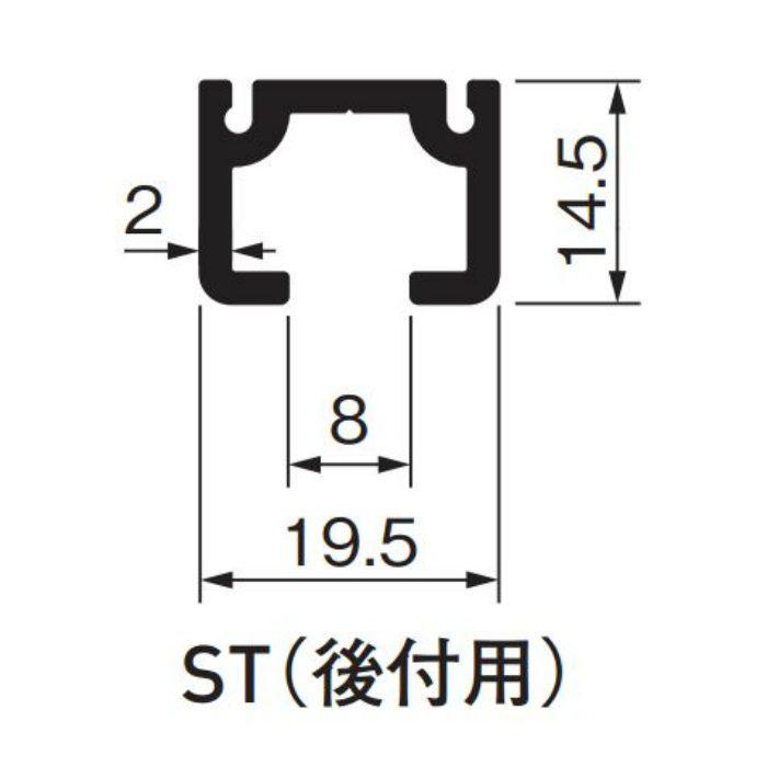 ピクチャーレイル ギャラリー ST(後付用) 3000S シルバー 5本/ケース