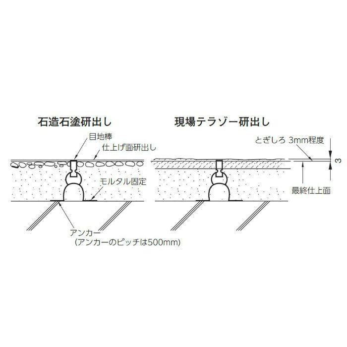 真鍮 目地棒 5X12 M-86 50本/ケース