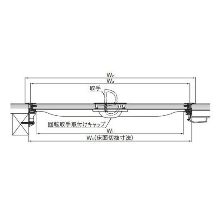 ダイケン ホーム床点検口 SHF3-45 ブロンズ 10台/ケース