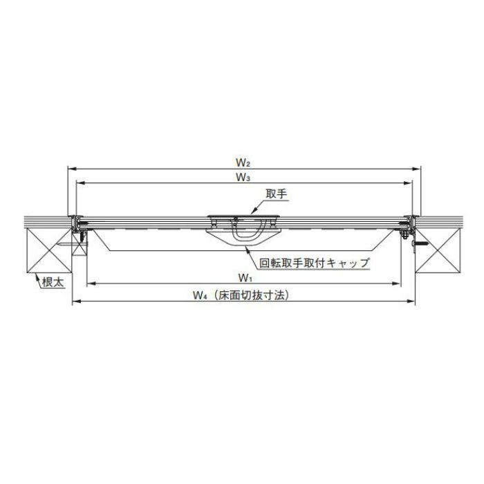 ダイケン ホーム床点検口 HFCB-60 ブロンズ 6台/ケース