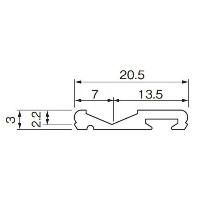 フラットレール UB L=1830 FXA2218 アーバンブラウン