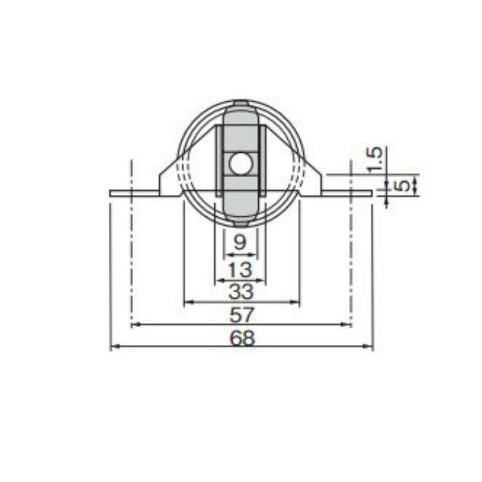 フラットレール戸車 YSK 33 20個/ケース