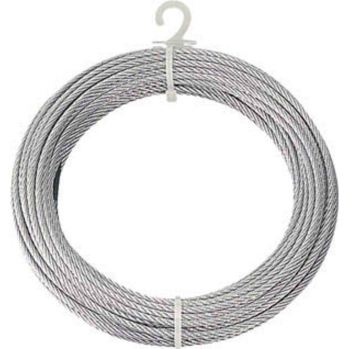 メッキ付ワイヤーロープ Φ4mmX10m 2134624
