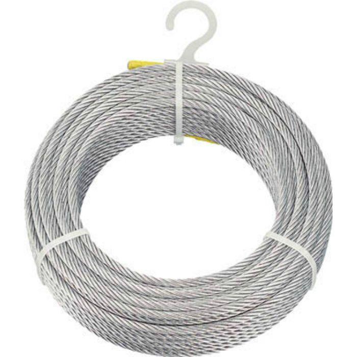 メッキ付ワイヤロープ Φ4mmX100m 4890965