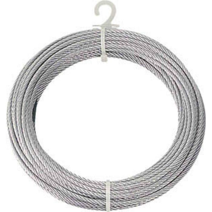 メッキ付ワイヤーロープ Φ6mmX10m 2134659