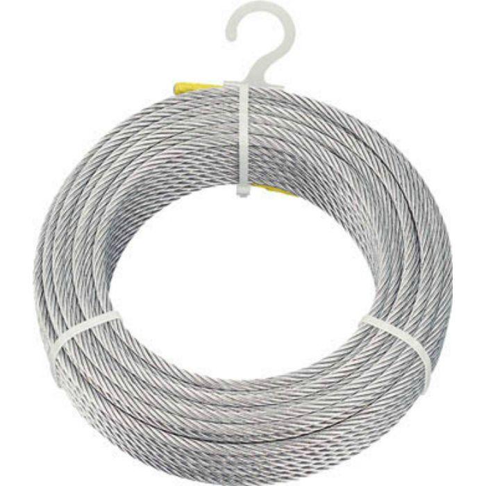 メッキ付ワイヤーロープ Φ6mmX30m 2134675