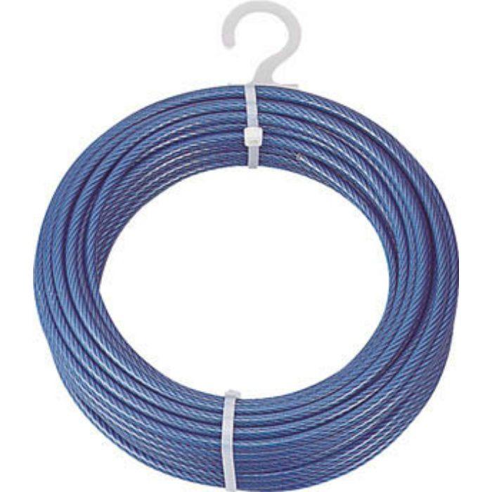 メッキ付ワイヤーロープ PVC被覆タイプ Φ4(6)mmX10m 2134934
