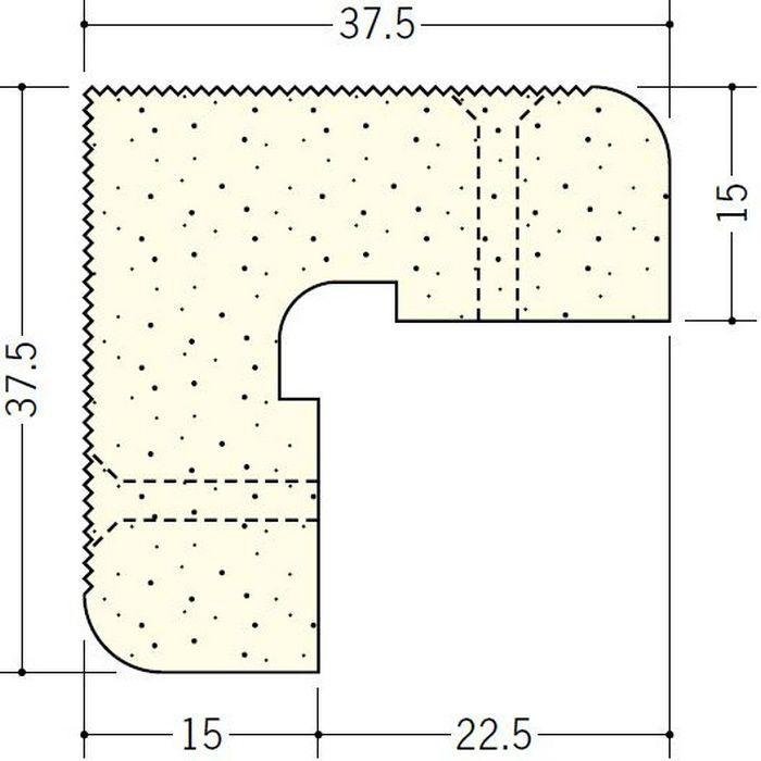 ペンキ・クロス下地材 出隅 ビニール PSコーナー15mm ミルキー 2.6m  01283