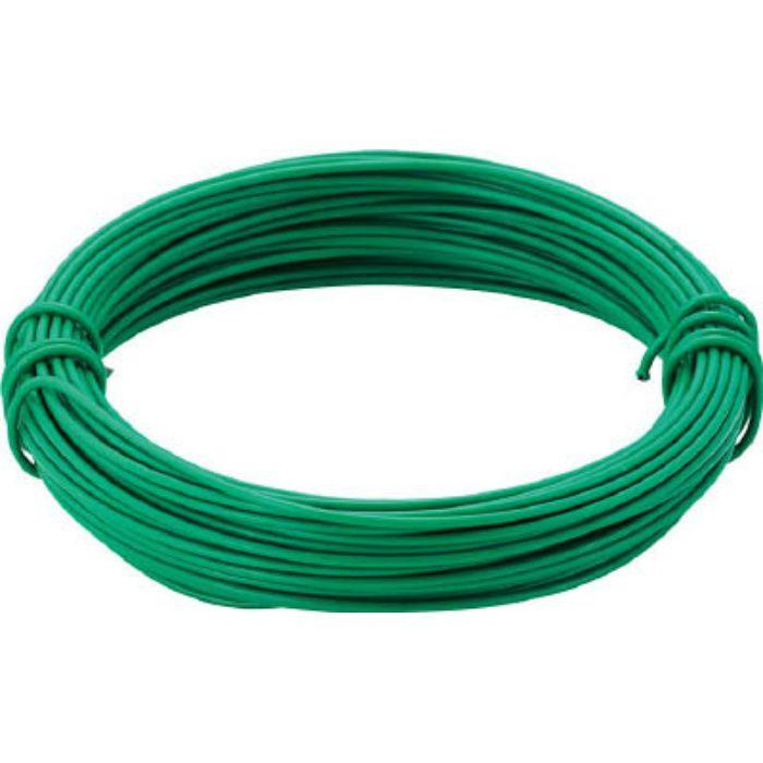 カラー針金 ビニール被覆タイプ グリーン 線径0.9mm 2825171