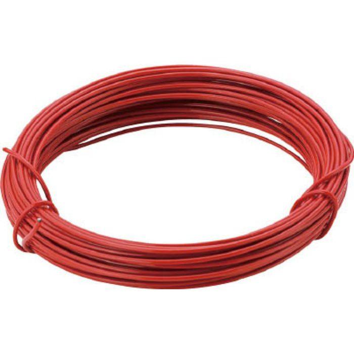 カラー針金 小巻タイプ・18番手 赤 線径1.2mm 2825261