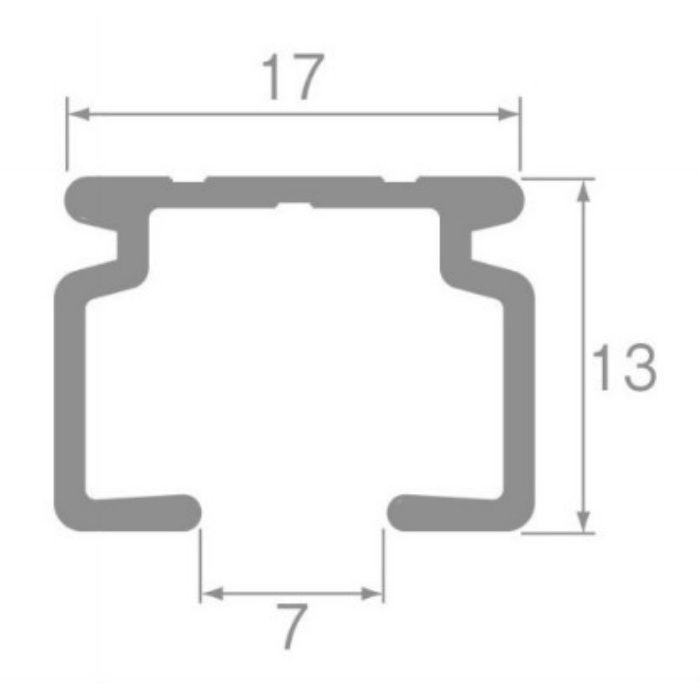 スイート カーブレール アルミホワイト 180R 1.00m×1.00m