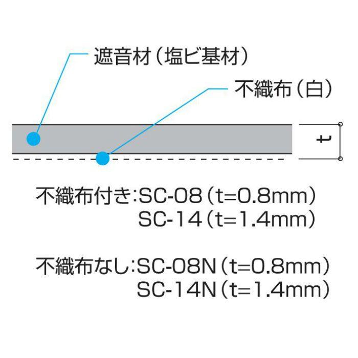 遮音シート 0.8mm厚 940mm×10m SC-08