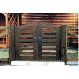 ウッド門扉 扇2型 本体 0812