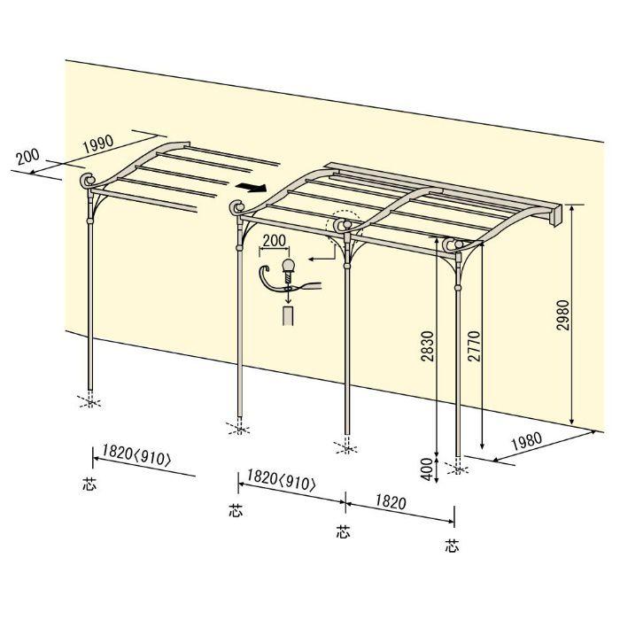 フレンチテラス本体 (1.0間タイプ) TM1820
