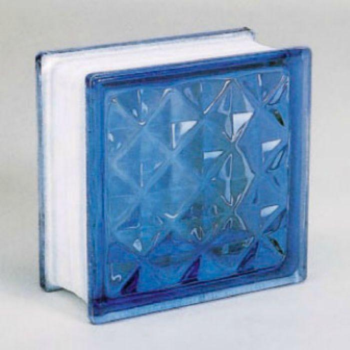 ガラスブロック ダイヤモンド95 ライトブルー 6個/ケース