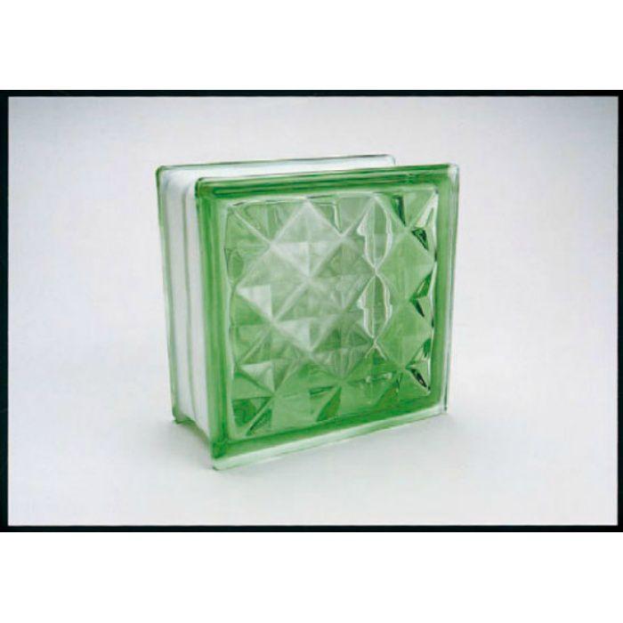 ガラスブロック ダイヤモンド95 グリーン 6個/ケース