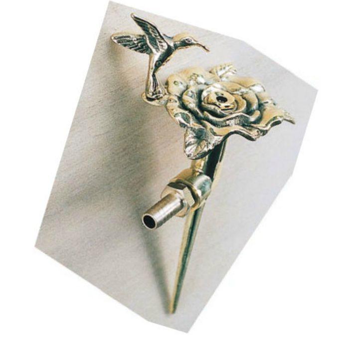 フラワー散水栓 バラ・ハチドリ 真鍮