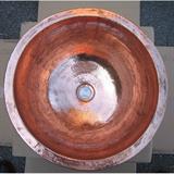 銅製洗面ボウル 丸型