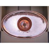 銅製洗面ボウル 楕円型