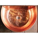 銅製洗面ボウル 半円型