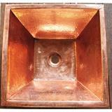 銅製洗面ボウル 角型