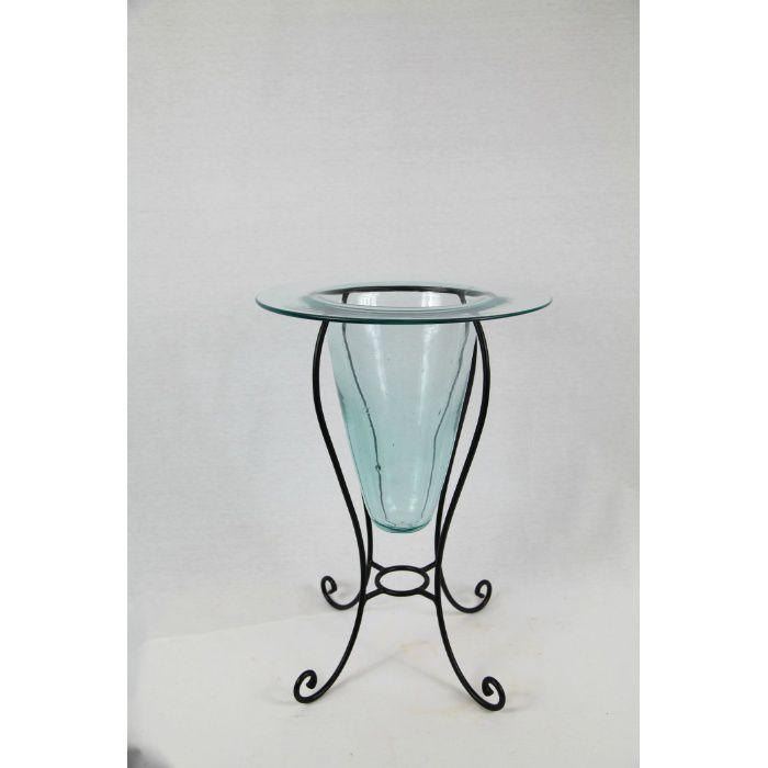 手作りガラス花器U型