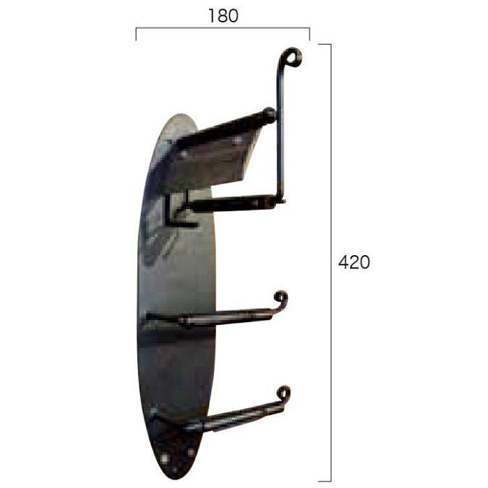 トイレットペーパーホルダー トリプル