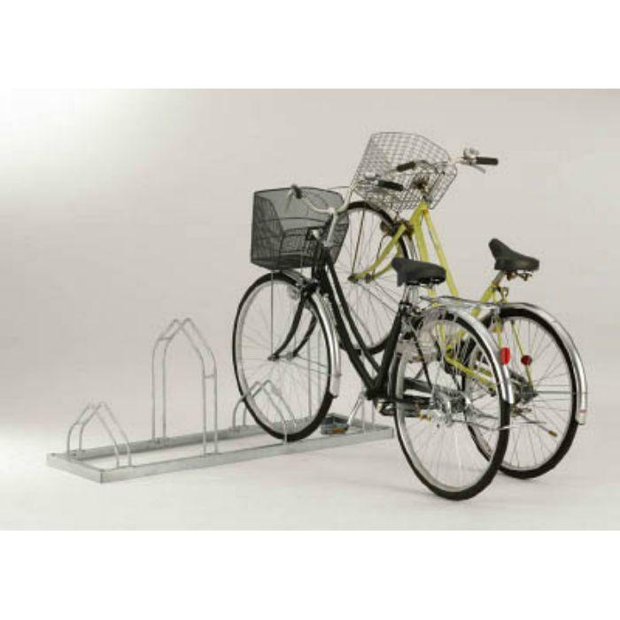 平置き自転車ラック前輪差込式サイクルスタンド 6台収容ピッチ600