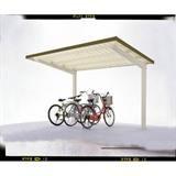 自転車置場サイクルロビー 連結型スチール屋根 間口2700