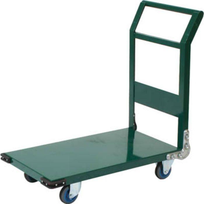 鋼鉄製運搬車 1200X750 Φ200エアキャスター 緑 3372685