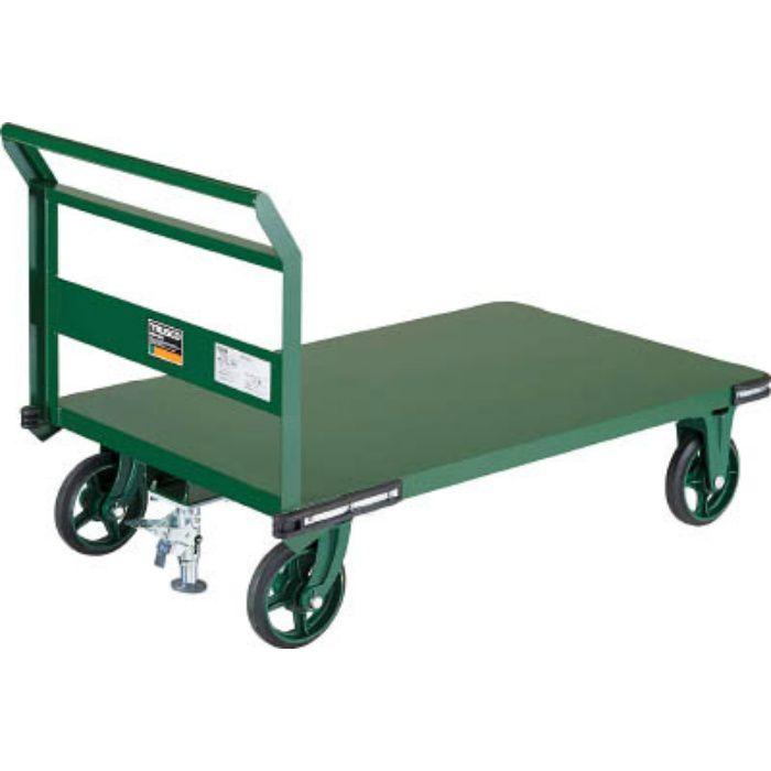 鋼鉄製運搬車 900X600 ハンドル側自在車 鋳物車輪 LS付 7680767