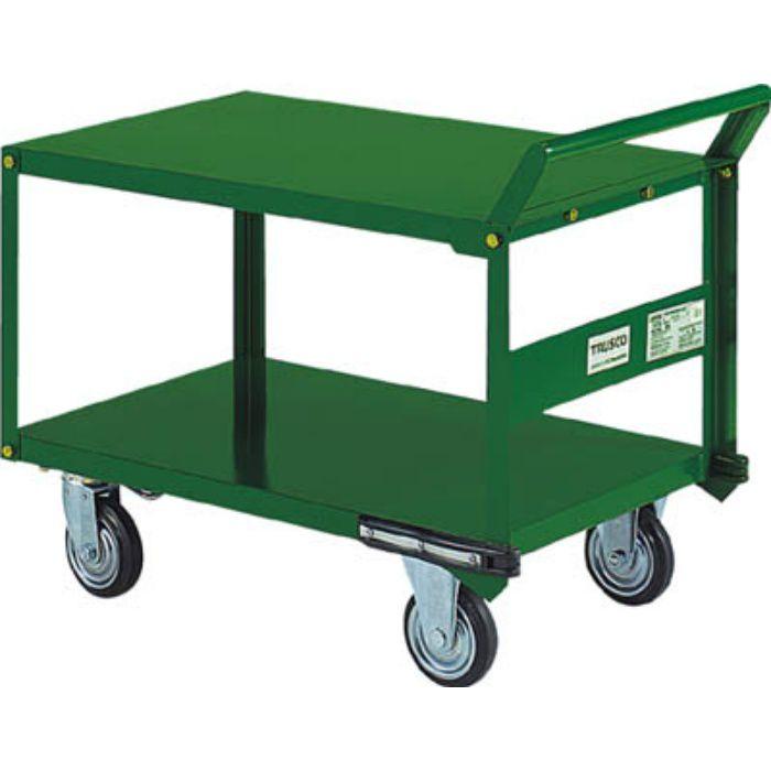 鋼鉄製運搬車 片袖2段型 900X600 プレス車 自在側S付 5042429
