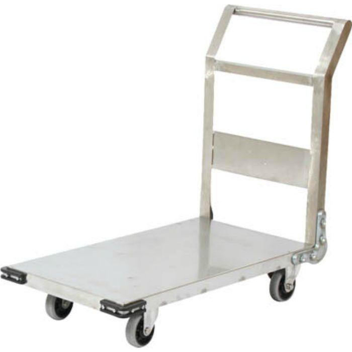 ステンレス鋼板製運搬車 固定式 1200X750 3372782
