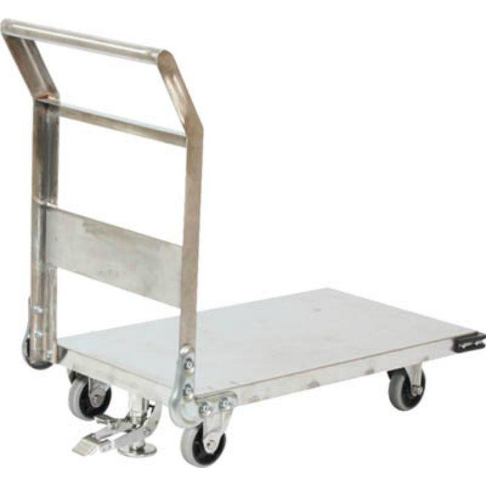 ステンレス鋼板製運搬車 固定式 1200X750 S付 3372839