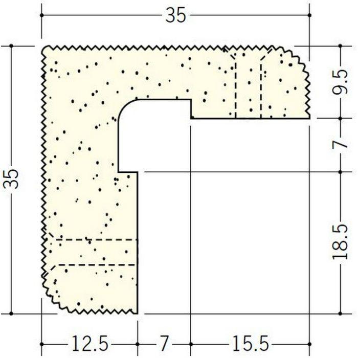 ペンキ・クロス下地材 出隅 ビニール PSコーナー 9.5+12.5 ミルキー 2.6m  01280