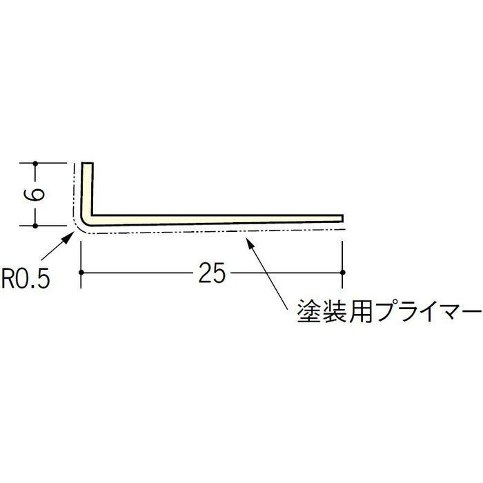 ペンキ・クロス下地材 ドア廻り ビニール L型コーナー6×25プライマー付 ミルキー 2.73m  01311-2